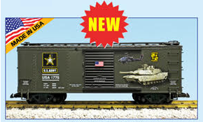 USA Trains Military Car Army Boxcar